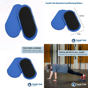 """Tumbl Trak Smooth Sliding Slider with Comfortable Top 9"""", Blue(Small -Pair)"""