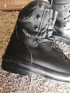 Hochwertige HAIX Sicherheitsschuhe Echt Leder Größe 9,5 > 43 < Polizeieinsatz
