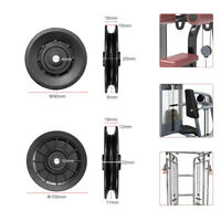 90/105mm Universal Nylon Bearing Pulley Wheel Cable Gym Fitness Equipment Part