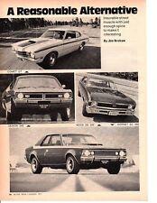 1971 HORNET - NOVA - COMET - DEMON ~ ORIGINAL 5-PAGE ARTICLE / AD