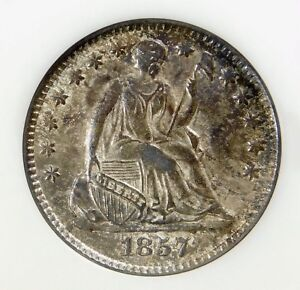💚CAC💚 NGC MS63 1857 SEATED LIBERTY HALF DIME