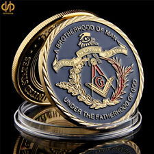 3D Masonic Freemasonry Tokens & Masonic Challenge Gold Coin Freemason Collection