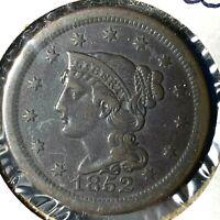 1852 1C Braided Hair Cent (56321)