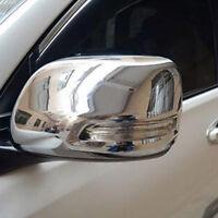 LED Chrome Side Rearview Mirror Cover For Toyota 2700 FJ120 J120 Prado 2003-2009