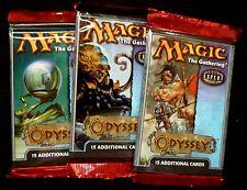 MTG Magic the Gathering  3X Odyssey Booster Packs New  2001 MTG Amricons