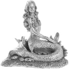NEW Leonardo 20cm Silver Art Mermaid Mythical Fantasy Figurine Ornament Statue