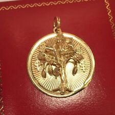 RaRe Vintage 14k Yellow Gold MONEY Tree Dollar Bills Emergency Charm 8gm Pendant