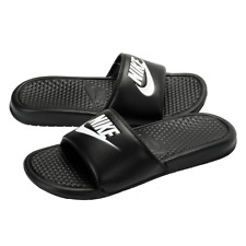 13f508dfd4fbb Mens Black Nike Benassi JDI Flip Flops Pool Beach Holiday Shoes Sandals UK 8