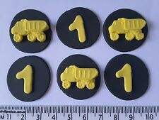 24 Trucks & discs cupcake cake toppers birthday party boys decorations