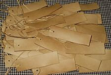 NEW SIZE 25 RECTANGLE BLANK 3-1/2 x 1 HANDCUT PRIMITIVE COFFEE STAINED HANG TAGs