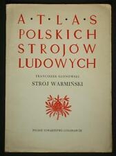 BOOK ATLAS OF POLISH FOLK COSTUME Warmin ethnic dress fashion pattern Warminski