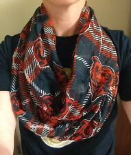 NFL Chicago Bears INFINITY SCARF Womens Football Rally Sheer Neck Game Cowl