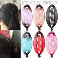 1 PC Fischform Haarspange Haar Haarnadel Haar Klaue Clip Haarstyling-Tools