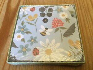 Set of 4 Cute Country Floral Bee Ladybird Coasters New Boxed Unopened Free Post