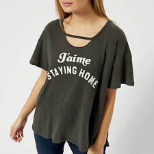 NWT $88 WILDFOX COUTURE JET LAGGED LONG SLEEVE TEE COCONUT