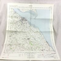 1962 Vintage Militare Mappa Di Grimsby Humberside Louth Cleethorpes River Humber