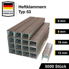 5000 Tackerklammern TYP 53 6,8,10,12,14 mm Heftklammern Tacker Klammern Hefter