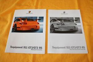 Porsche 911 GT3 RS Tequipment 997 2009 Prospekt Brochure Folder Catalog Broschyr