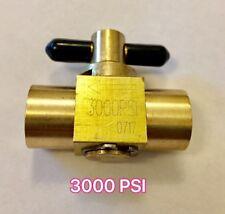 """Válvula de latón de alta presión 3000 PSI de 1/4"""" 240 C Máquina de Limpieza de Alfombras"""