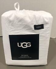 Nwt California King Ugg Sheet Set Hudson Bright White Ca King Size Set Brand New