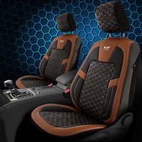 Sitzbezug fürs Auto passend Seat Ateca in Schwarz Braun Royal