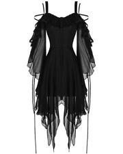 Dark In Love Gothic Dress Black Chiffon Sleeve Steampunk Witch Victorian Vampire