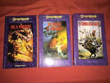 ¡¡¡LOTE 3 LIBROS 2ª TRILOGÍA HÉROES DE LA DRAGONLANCE. TIMUN MAS. AÑO 1997!!!