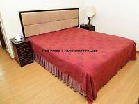 Indisch King Tagesdecke Hand Blockdruck Bett Deckel Baumwolle Bettwäsche Ethno
