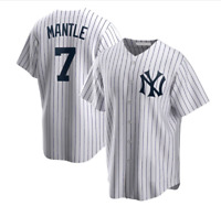 Mickey Mantle New York Yankees Fanmade Baseball Jersey XS-4XL