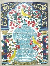 "Ceramic tile art Mosaic wall mural Andalusian floral Birds BACKSPLASH 18"" x 24"""