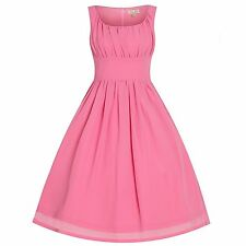 Lindy Bop Christianne Prom Party Dress Size 20 BNWT RRP £40.99 Pink Uk Freepost