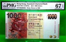 HONG KONG 1000 DOLLARS 2014 STANDARD CHARTERED BANK PICK 301 d VALUE $2800