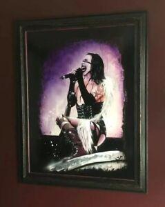 "Original Marilyn Manson Painting ""Holy Wood"""