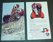 Vintage Rupp Ruppster Mini-Dune Buggy Sales Brochure Nice (895)