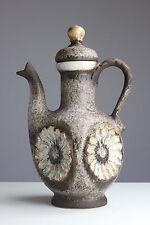 Dümler & Breiden Keramik Kanne 194/35 mit Deckel Henkel 70er Jahre Pottery Fat