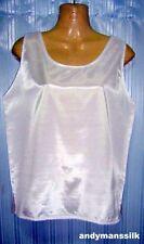 Silk Patternless Sleeveless Tops & Shirts for Women