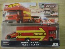 New Listinghot wheels car culture team transport porsche 962 fleet flyer red w/Rr Nip