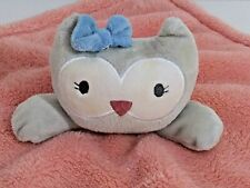 New listing Chick Pea Infant Baby Owl Lovey Security Blanket Pink Fleece
