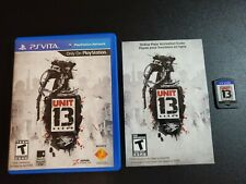 Unit 13 Sony Playstation Vita PS NRMT condition COMPLETE!