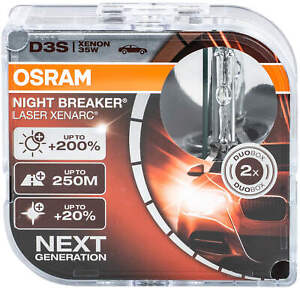2x D3S Night Breaker Laser Osram Xenon Xenarc HID Bulb 66340XNL Headlight LampAC