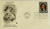 10 USPS PCS Meriwether Lewis 2004 37c Stamp FDC Cover 3855 First Day Issue NEW