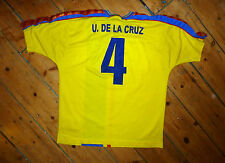 PLAYER ISSUE +  ECUADOR  SHIRT  +  LARGE  + YELLOW  + RETRO FOOTBAL JERSEY +
