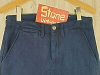 Levis Made & Crafted Indigo Blue Twill Knit Trousers Jeans Zip W28 L32 £185 New