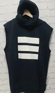 Adidas LXXII Men's Sleeveless Sweatshirt Berlin Hood Black White Small,    A61