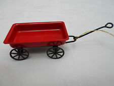 KCI Antique Vintage XMAS Red Wagon Christmas Ornament - NEW IN PACKAGE Dollhouse