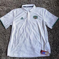 Adidas Ohio University Bobcats Sz XL Climalite Polo Shirt White Green NWT
