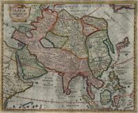 Arabia India China Chinese Empire Korea Southeast Asia 1694 Mosting rare map