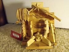 """Olive Wood Nativity Scene - Hand Carved In Israel 5.125"""" Tall - Pier 1 Imported"""