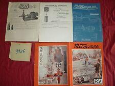 N°3926 / Motopompe R.V dépliant couleur,plan et prospectus