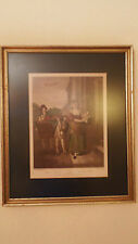 """"""" Cries of London """" Print in Vintage Frame - Plate 13 """" Turnips & Carrots Ho """""""